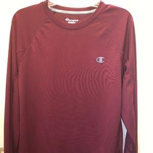 Champion Long-Sleeved Maroon Shirt